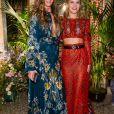 Bianca Brandolini d'Adda et Eugenie Niarchos-Défilé Roberto Cavalli (collection prêt-à-porter collection printemps/été 2017) à Milan, le 21 septembre 2016.