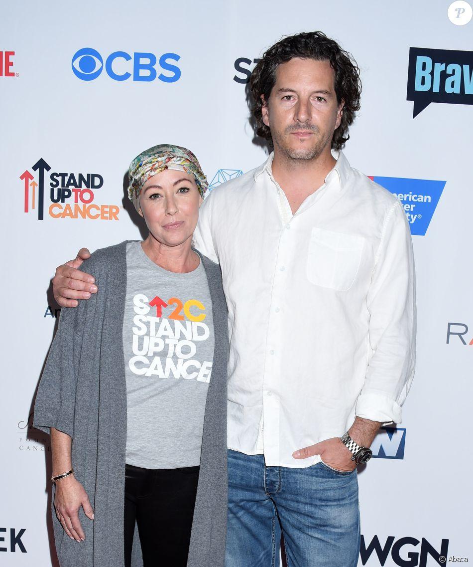Shannen Doherty et son mari Kurt Iswarienko lors du Stand Up To Cancer 2016, à Los Angeles, le 9 septembre 2016