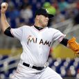 Jose Fernandez lors d'un match contre les Dodgers de Los Angeles à Miami le 9 septembre 2016