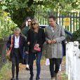 """Exclusif - Kate Moss, sa fille Lila Grace et son mari Jamie Hince sont allés faire du shopping chez """"Vintage Jewellery"""" après avoir déjeuné à Highgate Village. Londres, le 1er septembre 2014"""