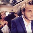 Lucas Pouille et Clémence Bertrand posent sur Instagram.