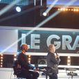 """Exclusif - Michel Drucker, Matt Pokora (M. Pokora) et Serge Lama - Enregistrement de l'émission """"Le Grand Show"""" à Paris le 19 septembre 2016 pour une diffusion le 1er octobre 2016. © Pierre Perusseau/Bestimage"""