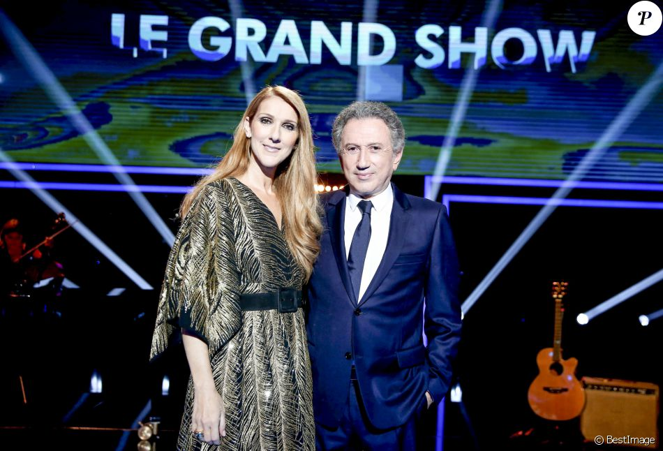 "Exclusif - Céline Dion et Michel Drucker - Enregistrement de l'émission ""Le Grand Show Céline Dion"" sur France 2. Le 15 juin 2016 © Dominique Jacovides / Bestimage"