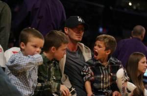 PHOTOS : Quand David Beckham emmène ses enfants voir les Lakers, Romeo devient enragé !