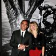 """Nikos Aliagas et sa compagne Tina Grigoriou - Inauguration de l'exposition photographique de Nikos Aliagas intitulée """"Corps et âmes"""" à la Conciergerie à Paris le 23 Mars 2016. © Dominique Jacovides / Bestimage"""