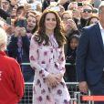 Kate Middleton à son arrivée sur le site du London Eye, la grande roue de Londres, le 10 octobre 2016 à l'occasion de leurs engagements officiels lors de la Journée mondiale de la santé mentale. © Doug Peters/PA Wire/ABACAPRESS.COM