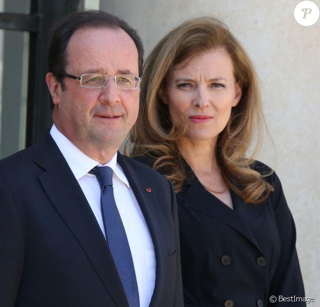 François Hollande et Valérie Trierweiler à l'Elysée le 6 juin 2013.