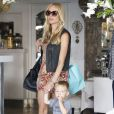 Kristin Cavallari va déjeuner avec son fils Camden à Beverly Hills, le 24 juillet 2014.