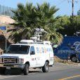Illustration de la propriété de Miranda Kerr où un intrus à essayer d'entrer par effraction à Malibu. Il a été blessé par balle et un garde de sécurité a été poignardé! Le 14 octobre 2016