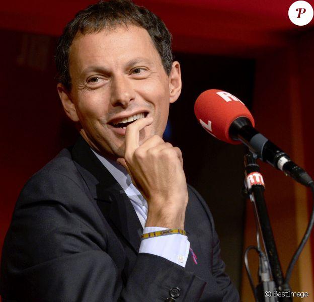 Marc-Olivier Fogiel lors de la conférence de rentrée de RTL à Paris le 4 septembre 2014