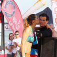Laury Thilleman (Miss France 2011) et son compagnon Juan Arbelaez à la Summer Cup 2016 à La Baule le 8 juillet 2016. © Laetitia Notarianni / Bestimage