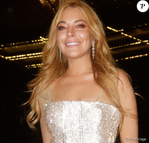 Lindsay Lohan à l'ouverture de son nouveau nightclub à Athènes en Grèce, le 15 octobre 2016