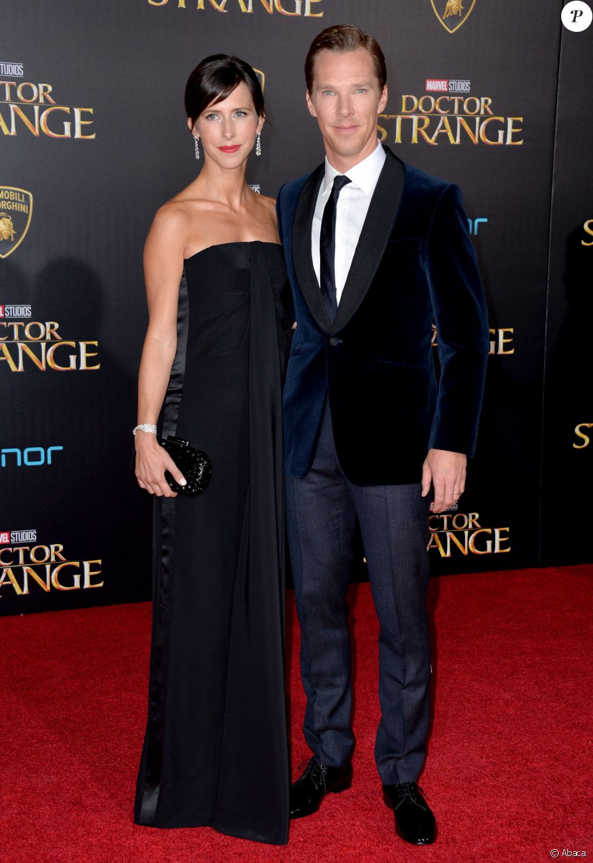 """Benedict Cumberbatch et Sophie Hunter à la première du film """"Doctor Strange"""" au cinéma El Capitan Theatre à Los Angeles, le 20 octobre 2016"""