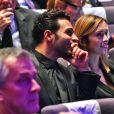 Maxim Nucci et Isabelle Ithurburu lors de la cérémonie des Sportel Awards au Grimaldi Forum à Monaco, le 25 octobre 2016. © Bruno Bebert/Bestimage