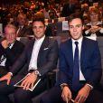 Dan Carter et Louis Ducruet dans la salle lors de la cérémonie des Sportel Awards au Grimaldi Forum à Monaco, le 25 octobre 2016. © Bruno Bebert/Bestimage