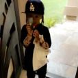 Blac Chyna et son fils King Cairo fêtent Halloween. Ils sont tous les deux déguisés en Rob Kardashian. Photo publiée sur Instagram le 31 octobre 2016