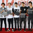 "Le groupe One Direction (Harry Styles, Liam Payne, Louis Tomlinson, Niall Horan et Zayn Malik) assiste au photocall du documentaire ""This Is Us"" aux studios Big Sky a Londres. Le 19 aout 2013"