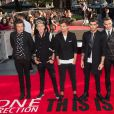 "Harry Styles, Niall Horan, Louis Tomlinson, Zayn Malik, Liam Payne à la Premiere du film ""One Direction : This Is Us"" a Londres, le 20 aout 2013."
