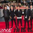 "Harry Styles, Niall Horan, Louis Tomlinson, Zayn Malik, Liam Payne à la Premiere du film ""One Direction : This Is Us"" a Londres, le 20 aout 2013."