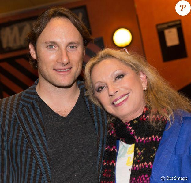 Exclusif - Véronique Sanson et son fils Christopher Stills (Chris Stills) au concert de Véronique Sanson à l'Olympia le 10 février 2015.