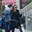 Miranda Kerr et Orlando Bloom reunis pour leur fils Flynn a New York, le 30 novembre 2013.