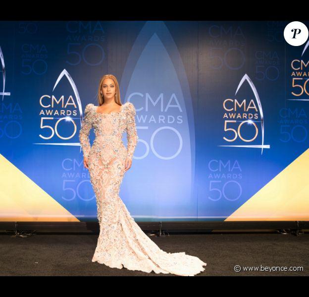 Béyoncé lors de la 50ème cérémonie des CMA Awards organisée à Nashville le 2 novembre 2016.