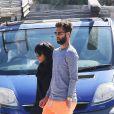 Benoît Paire et sa compagne Shy'm se promènent dans les rues de Monaco après un déjeuner à leur hôtel le 13 avril 2016.