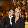 Laurence Ferrari  à la bijouterie Arije avec son amie Hoda Roche