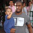 Reggie Bush, sa compagne Lilit Avagyan et leur fille Briseis sont allés déjeuner au restaurant Ivy à West Hollywood. Le 20 février 2014