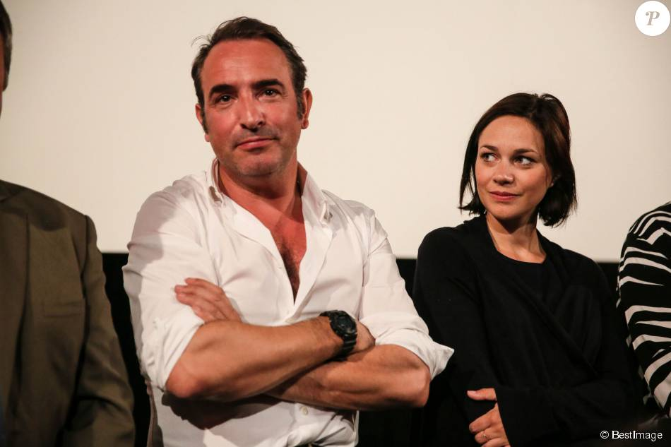Jean dujardin et nathalie p chalat couple uni face for Jean dujardin couple 2014