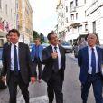 Christian Estrosi, Président du conseil régional de Provence-Alpes-Côte d'Azur et Nicolas Sarkozy à Nice le 17 septembre 2016.