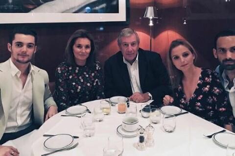 Louis Sarkozy : Réunion de famille pour l'anniversaire de sa mère Cécilia
