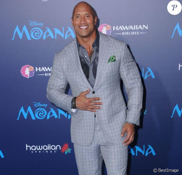 Dwayne Johnson à la première de ''Moana'' à Hollywood, le 14 novembre 2016 © Birdie Thompson/AdMedia via Zuma/Bestimage