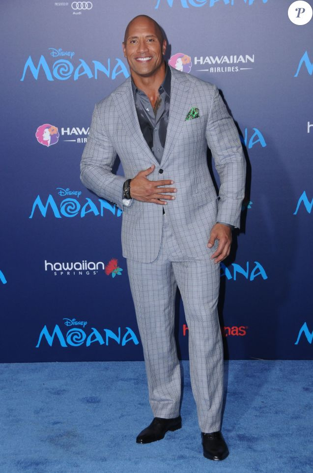 Dwayne Johnson à la première de ''Moana'' à Hollywood, le 14 novembre 2016 © Birdie Thompson/AdMedia via Zuma/Bestimage