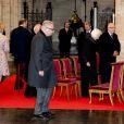 Le prince Laurent, la reine Paola, le roi Albert, la princesse Astrid, le prince Lorenz - La famille royale de Belgique en la cathédrale Saints-Michel-et-Gudule de Bruxelles pour le Te Deum (Fête du Roi), le 15 novembre 2016.15/11/2016 - Bruxelles