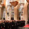 Illustration - La famille royale de Belgique à leur arrivée en la cathédrale Saints-Michel-et-Gudule de Bruxelles pour le Te Deum (Fête du Roi). Le 15 novembre 2016 15/11/2016 - Bruxelles