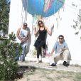 Exclusif - Firmine Richard, Caroline Ithurbide et Boris Ehrgott dans Djerba Hood (Street Art) à Djerba lors des 'Escapades des stars' le 10 Novembre 2016. © Denis Guignebourg / Bestimage