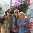Exclusif - Martine Vidal et son frère Frédéric Vidal et sa femme Anne dans Djerba Hood (Street Art) à Djerba lors des 'Escapades des stars' le 10 Novembre 2016. © Denis Guignebourg / Bestimage