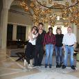 Exclusif - Caroline Ithurbide et son compagnon Boris Ehrgott, Princess Erika, Anna-Véronique El Baze et Eric Naulleau dans le palace Radisson Blu de Djerba lors des 'Escapades des stars' le 13 Novembre 2016. © Denis Guignebourg / Bestimage