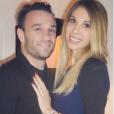 Le footballeur Mathieu Valbuena et sa compagne Fanny posent sur Instagram en février 2016.