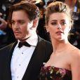 """Johnny Depp (habillé en Ralph Lauren) et sa femme Amber Heard - Tapis rouge du film """"The Danish Girl"""" lors du 72ème festival du film de Venise (la Mostra), le 5 septembre 2015.  The Danish Girl Premiere at the venice film festival 2015 5 September 2015.05/09/2015 - Venise"""