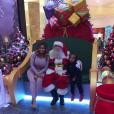 Blac Chyna et son fils King Cairo sont allés voir le Père Noël. Photo publiée sur Instagram le 27 novembre 2016