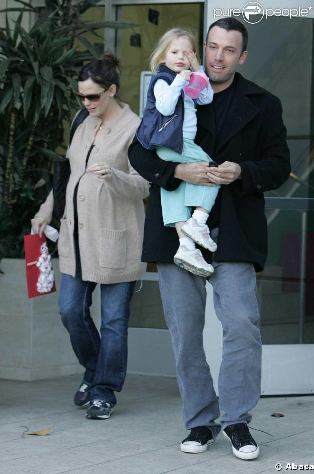 Ben Affleck avec Jennifer Garner et leur fille Violet