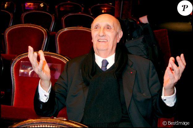 Pierre Tchernia aux César, le 22 février 2008 à Paris.