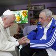 Le pape François rencontre Fidel Castro à La Havane le 21 septembre 2015.