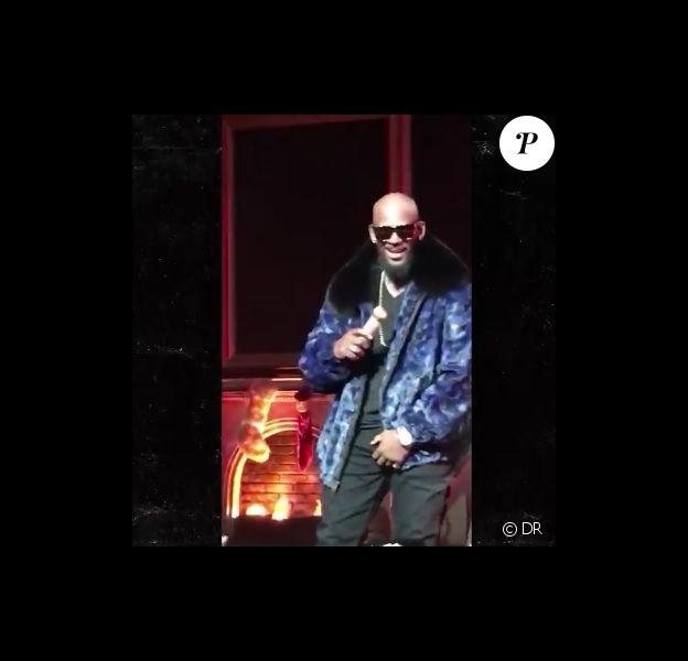 R. Kelly se faisant attraper les parties intimes par une fan déchaînée en concert à Detroit le vendredi 2 décembre 2016