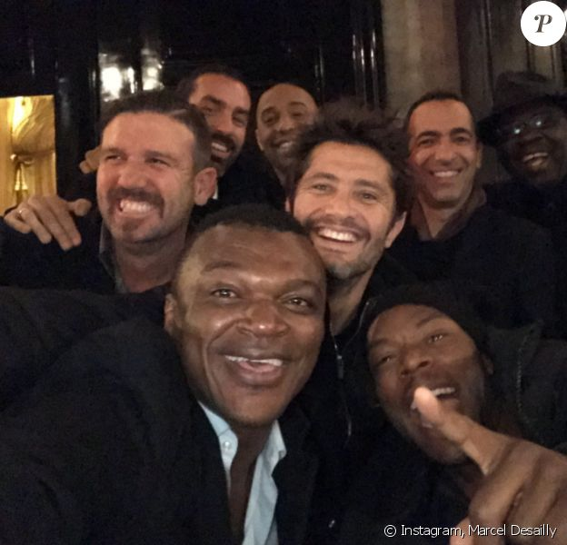 Une partie des Bleus de 98 se sont retrouvés à Paris le 6 décembre 2016.