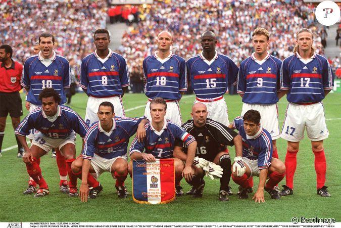 Equipe de france de la coupe du monde 1998 finale contre le br sil le 12 juillet 1998 - France 98 coupe du monde ...