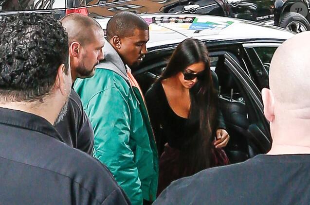 Kanye West et Kim Kardashian à New York, le 3 octobre 2016.