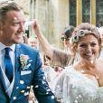 Johannah Deakin, le jour de son mariage avec Dan. La maman de Louis Tomlinson est malheureusement décédée en décembre 2016, emportée par une leucémie à l'âge de 43 ans